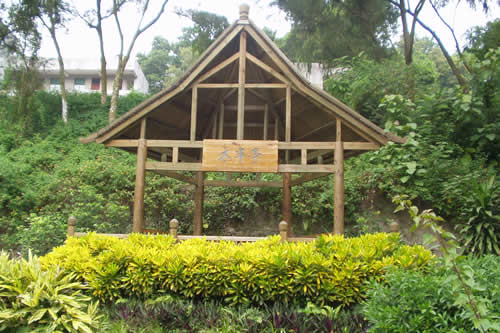 Gazebo in China made with treated timber.