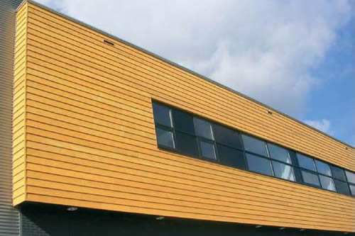 Timber siding using modification process.