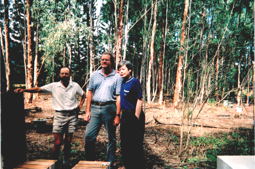 Kunio Tsunoda, Ken Grace and Paul Morris in Hawaii.