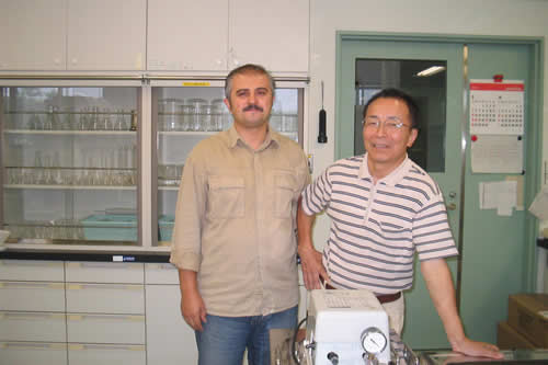 Ilker Usta and Shuichi Doi at work.